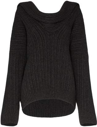 Jacquemus draped knitted jumper