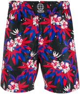 Sss World Corp Space Hibiscus swim shorts