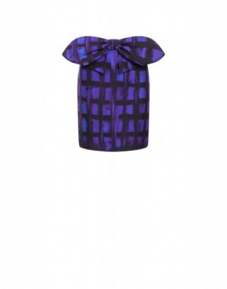 Moschino Cady Miniskirt Purple Squares Woman Purple Size 40 It - (6 Us)