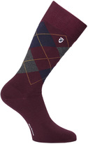 Barbour Birtley Maroon Argyle Socks