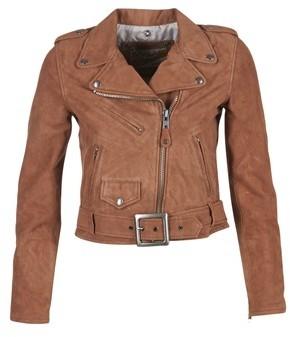 Schott LINOUI women's Leather jacket in Brown