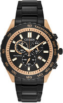Citizen Men's Chronograph Sport Black Ion-Plated Stainless Steel Bracelet Watch 43mm AT2125-59E, A Macy's Exclusive Style
