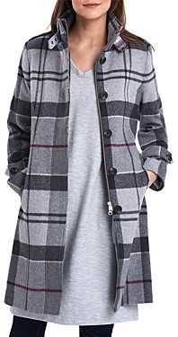 Barbour Seonaid Wool-Blend Plaid Coat