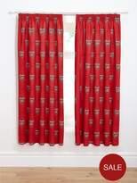 Arsenal Bullseye Pleated Curtains