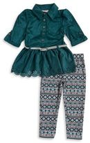 Little Lass Little Girl's Sueded Tunic and Leggings Set