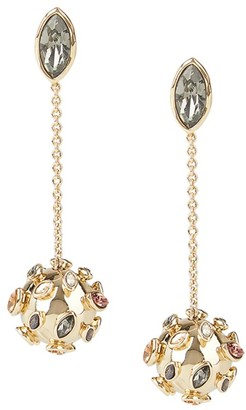 Alexis Bittar 10K Goldplated & Crystal Chain Drop Sputnik Earrings