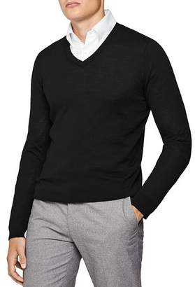 Reiss Earl V-Neck Slim Fit Sweater
