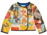Gucci Baby cat print nylon jacket