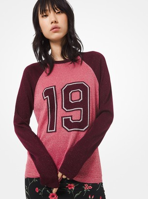 Michael Kors Metallic Knit 1981 Varsity Sweater