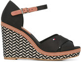Tommy Hilfiger woven wedge sandals - women - Cotton/Leather/rubber - 39