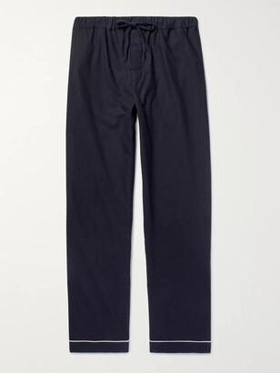 Desmond & Dempsey Brushed Cotton-Twill Pyjama Trousers