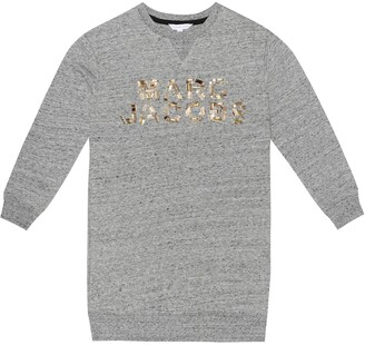 Little Marc Jacobs Embellished cotton-jersey sweatshirt
