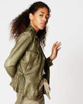 Nicole Miller Sammi Leather Jacket
