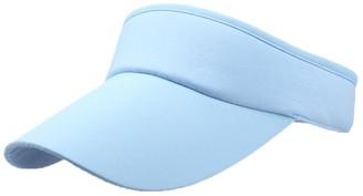 Winkey Women's Empty Top Sunhat Sport Headband Classic Sun Visor Caps Hat (Sky Blue)