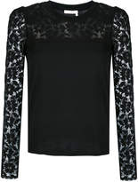 See by Chloé lace sleeve top