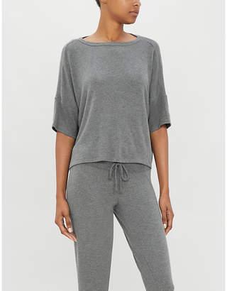 Beyond Yoga Hacci cropped stretch-modal T-shirt