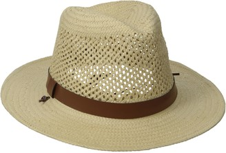 San Diego Hat Company San Diego Hat Co. Men's Woven Paper Straw Panama Fedora Hat