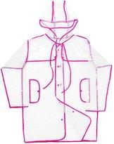 Generic Button Transparent Clear Rain Coat Festival Camping Raincoat for Women