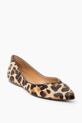French Sole Leopard Peppy Flats