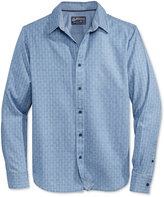 American Rag Men's Zigzag Indigo Shirt, Only at Macy's