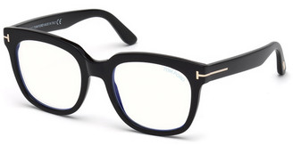 Tom Ford Blue Light-Blocking Square Transparent Acetate Optical Frames