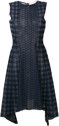 Christian Dior Pre-Owned houndstooth knit dress