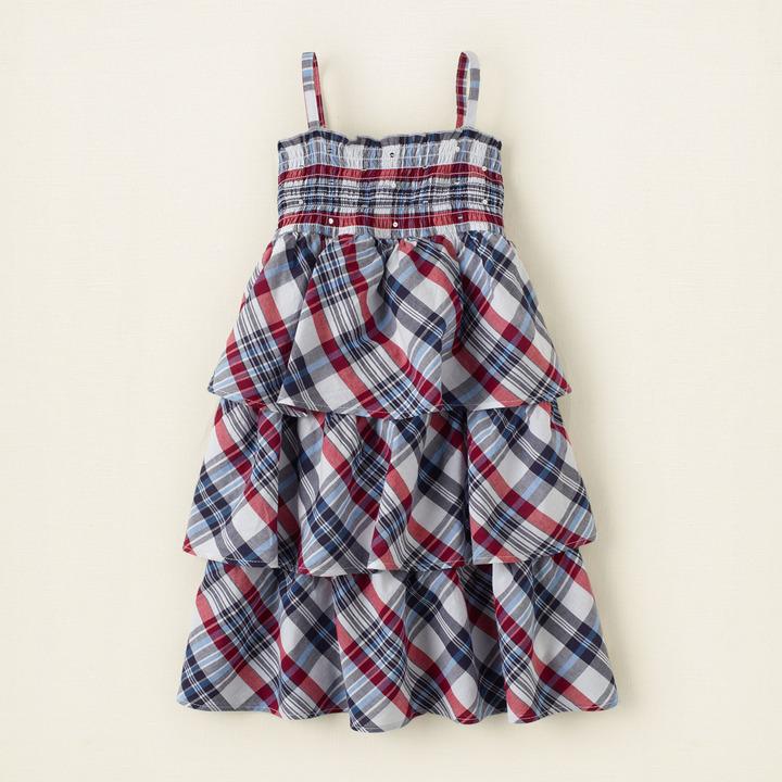 Children's Place Americana plaid dress