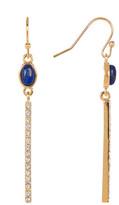 Cole Haan Lapis Linear Drop Earrings