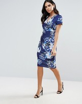 Jessica Wright Printed Midi Dress