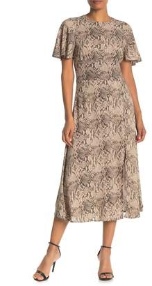 Free Press Reptile Butterfly Sleeve Maxi Dress