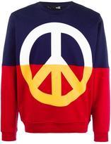 Love Moschino peace symbol print sweatshirt - men - Cotton - S