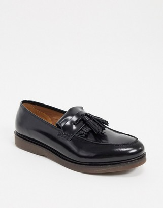 H By Hudson calne loafers in hi shine black