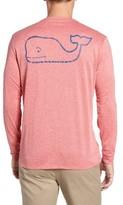 Vineyard Vines Men's Vintage Logo Long Sleeve Performance T-Shirt