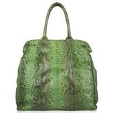 Zagliani excellent (EX Green Snakeskin Shoulder Bag