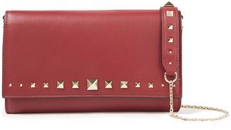 Valentino Rockstud Textured-leather Wallet