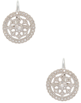 Rina Limor Fine Jewelry 14K White Gold & 0.50 Total Ct. Diamond Flower Shield Earrings