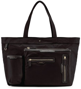 Anya Hindmarch Large Multi-Pocket Nylon Tote Bag