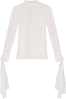 Dion Lee Cuff-tie silk-crepe blouse