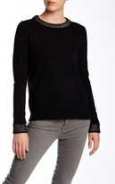 Vince Foil Print Wool Blend Crew Neck Sweater