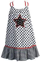 Youngland Girls 4-6x Star Applique Knit Sundress