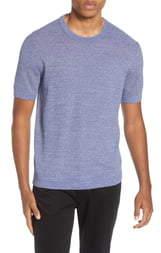 Club Monaco Short Sleeve Cotton Sweater
