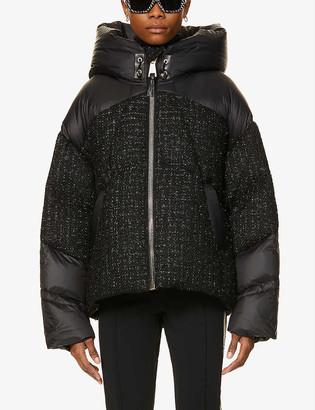 Nicole Benisti Matignon shell-down and tweed jacket