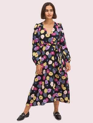 Kate Spade winter garden wrap dress