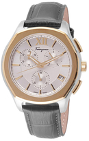 Salvatore Ferragamo Lungarno Chrono Stainless Steel Watch, 43mm