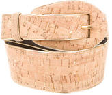 Oscar de la Renta Cork Waist Belt