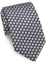 Giorgio Armani Zigzag Knit Silk Tie