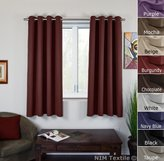 """NIM Textile Grommet Curtains Luxurious Thermal Insulated Blackout Window Panels for Living Kids Room, Sofiter Collection (2 Panels Set, 110""""W x 63""""L, )"""