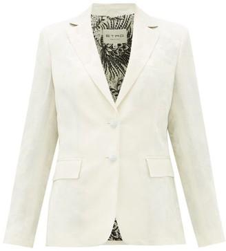 Etro Single-breasted Floral-jacquard Jacket - White