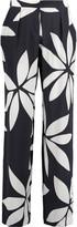 Issa Cerys printed silk straight-leg pants