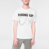 Paul Smith Women's White 'Hang-Up' Print Cotton T-Shirt